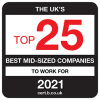 15th best mid-sized company to work for in the UK